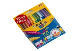 pen fibre tip fine 12 colour